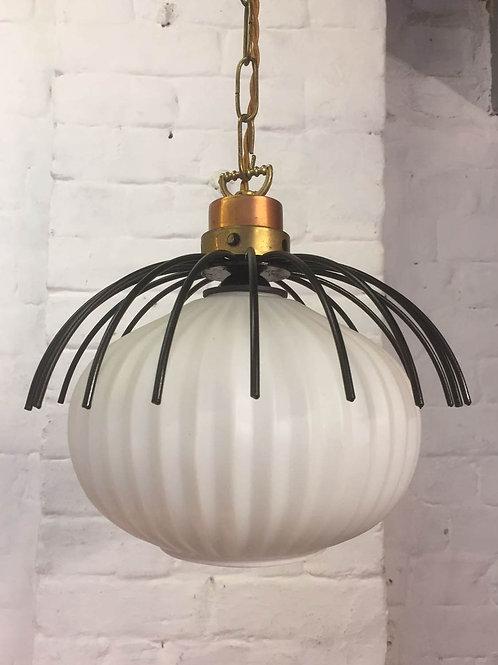 1960s Opaline Pendant Light