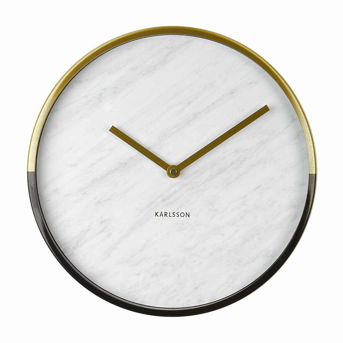 Modern White Clock Part - 22: A Thoroughly Modern White Marble And Metallic Wall Clock With A Choice Of A  Gold Or Copper Case.