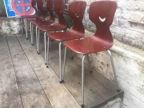 Set Of Six Galvanitas Pagwood Chairs