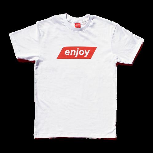 """Classic Enjoy Logo Tee"" / Cherry Red"