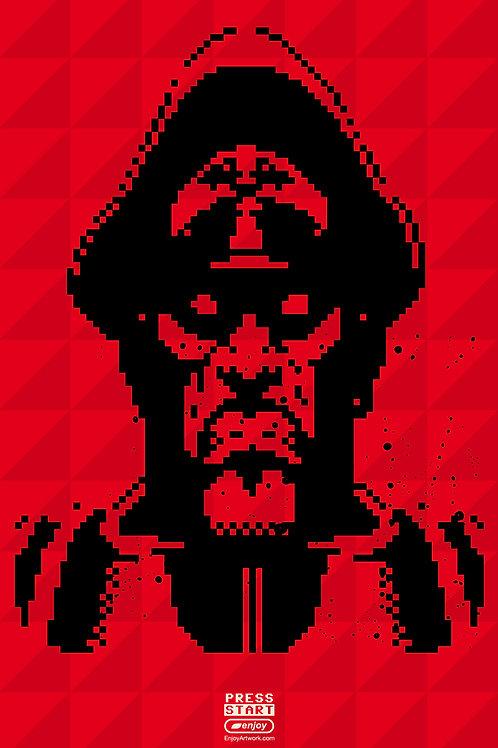 M.Bison Pixel Portrait