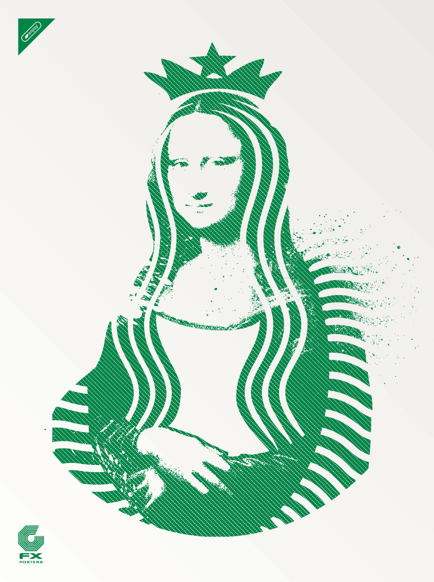 """Mona Lisa Starbucks"""