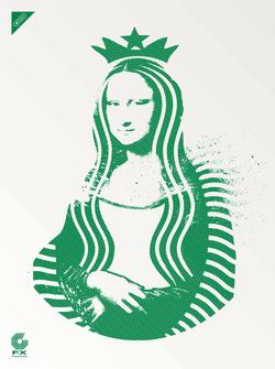 """Mona Lisa Starbucks"""
