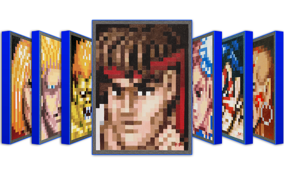 """Street Fighter Pixel Portraits"""