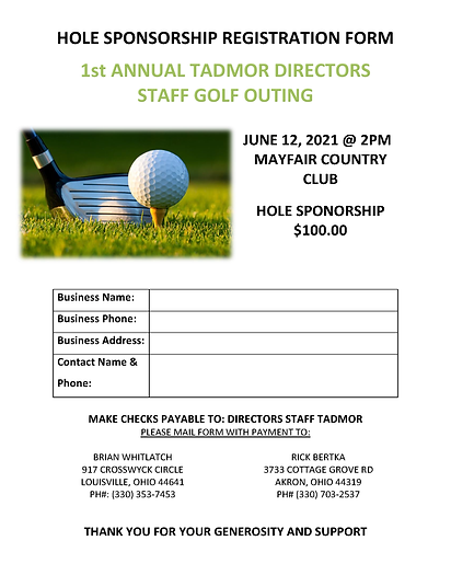 TADMOR DIRECTORS STAFF GOLF OUTING HOLE