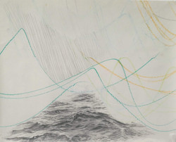Drawing on Drawing to Music - The Sea