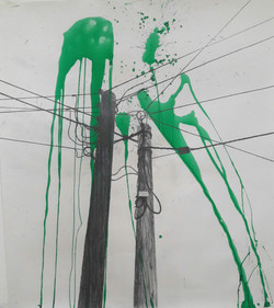 2 poles with splats