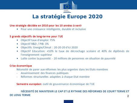 Stratégie Europe 2020 : de quoi s'agit-il ?