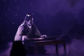 Playing Guqin at Echo Arena Liverpool