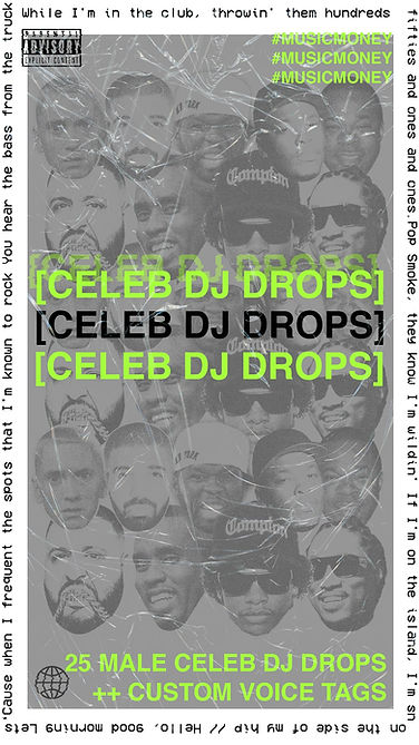 celebrity dj drops and celebrity producer tags