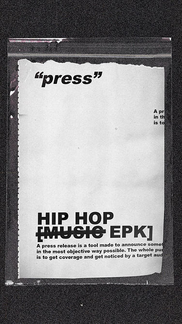 hip hop press releases and hip hop epks from #musicmoney hip hop marketing