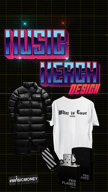 band merch designer and music merch design