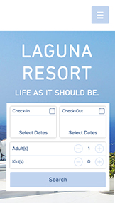 Accommodation website templates – Laguna Resort