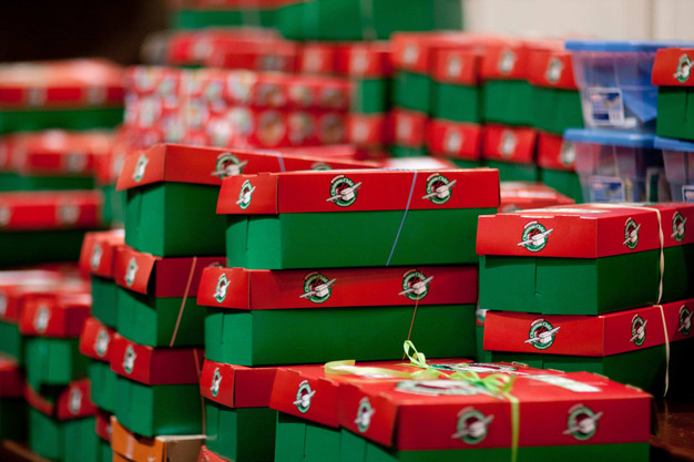 Christmas Child Boxes.1300 Boxes For Operation Christmas Child Purpose Claremont