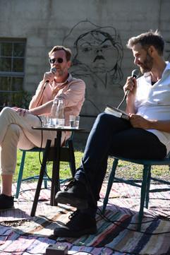 Mohlin och Nyström om sitt författarskap i samband med debutromanen Det sista livet