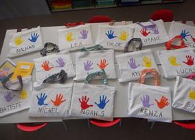Des sacs  100% recyclés  5 étoiles pour la Maternelle Les Floralies de Petite-Île!