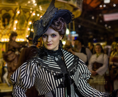 Edwardian gothic day dress