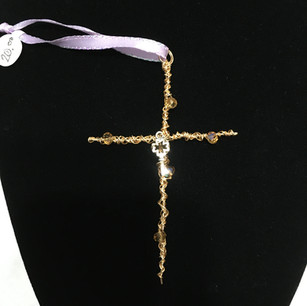 Wire & Bead Cross with Key