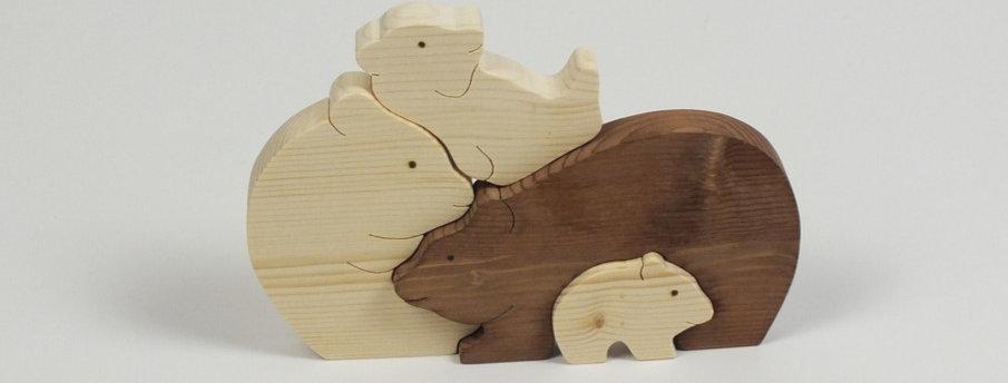 Bärenfamilie, Fichte
