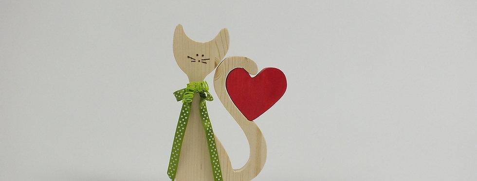 Katze mit Herz, Fichte