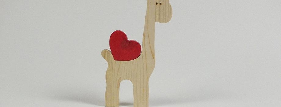 Giraffe mit Herz, Fichte