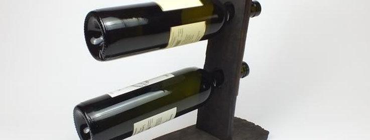 Weinflaschenständer aus Fassdaube 2er