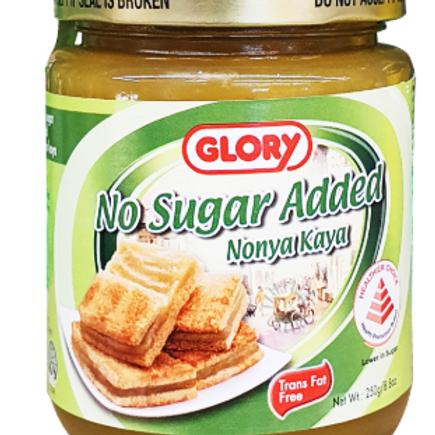 Glory Nonya Kaya - No Sugar Added 250g