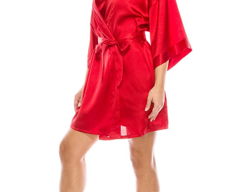 3 piece satin robe set