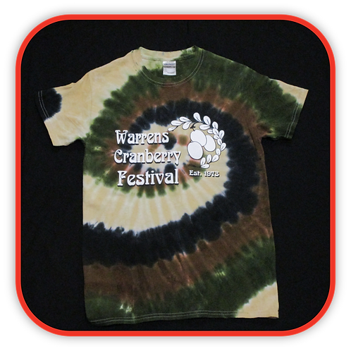 CAMO COLORED TIE-DYE T-SHIRT