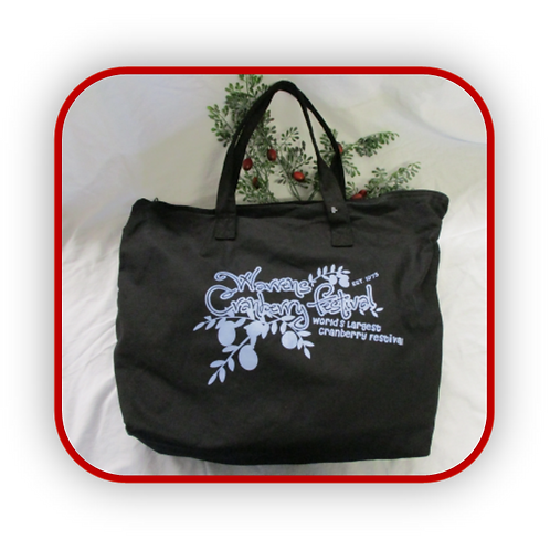 BLACK CANVAS WARRENS CRANBERRY FESTIVAL BAG