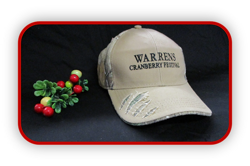 CAMO STYLED WARRENS CRANBERRY FESTIVAL CAP