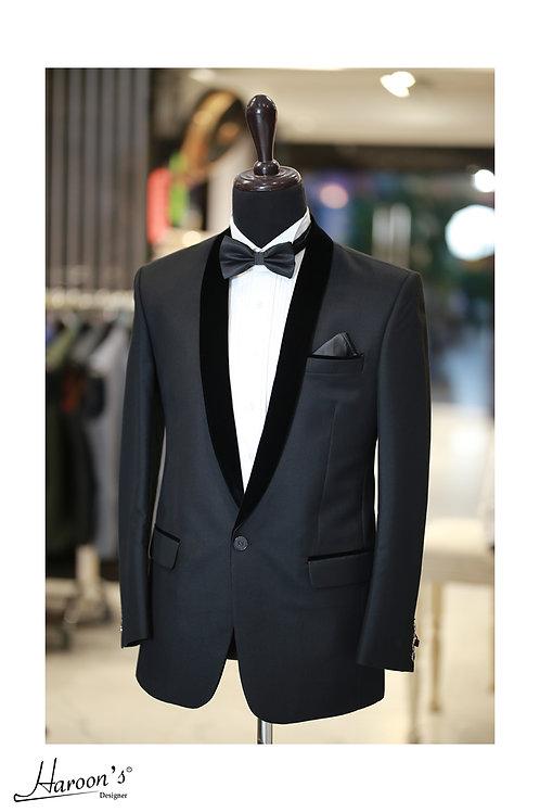Stylish Tuxedo Velvet 2 Button style