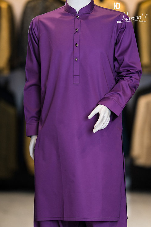Purple Shalwar Suit