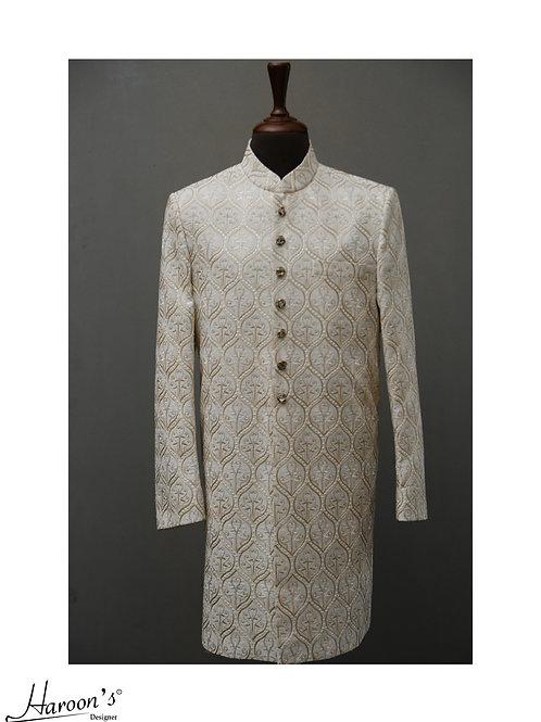 Off White Sherwani (On Demand)