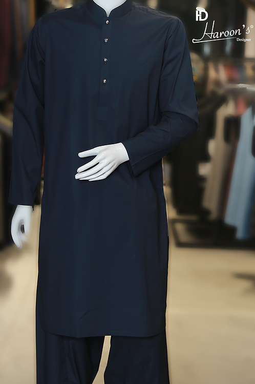 Navy Blue Shalwar Suit