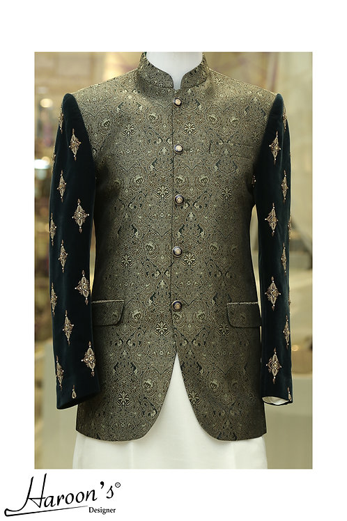 Prince Coat with embroidered sleeves