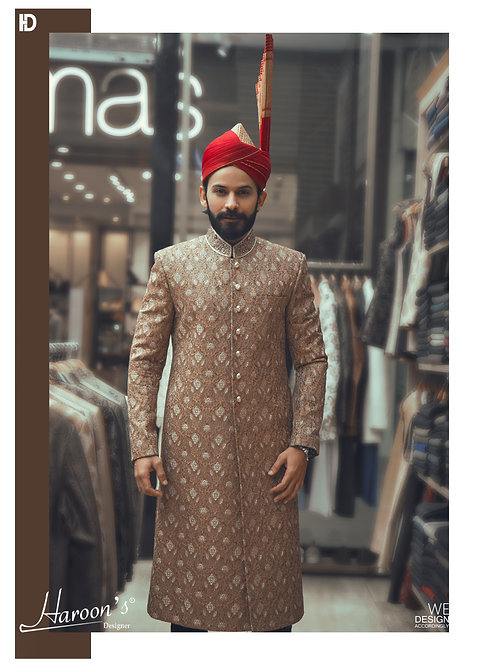 Rusty Gold Sherwani