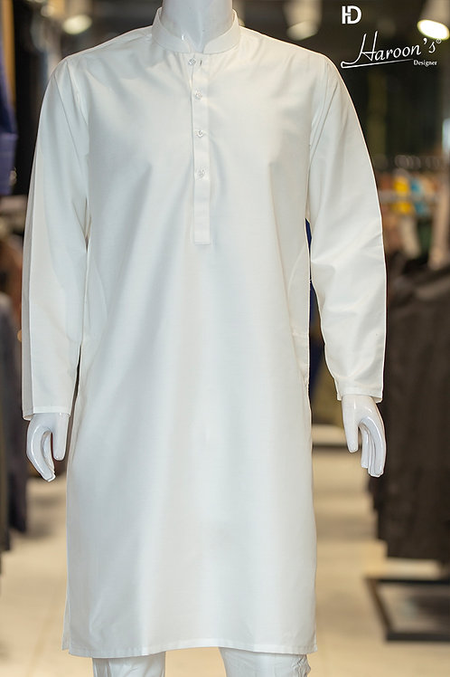 Egg White Shalwar Suit