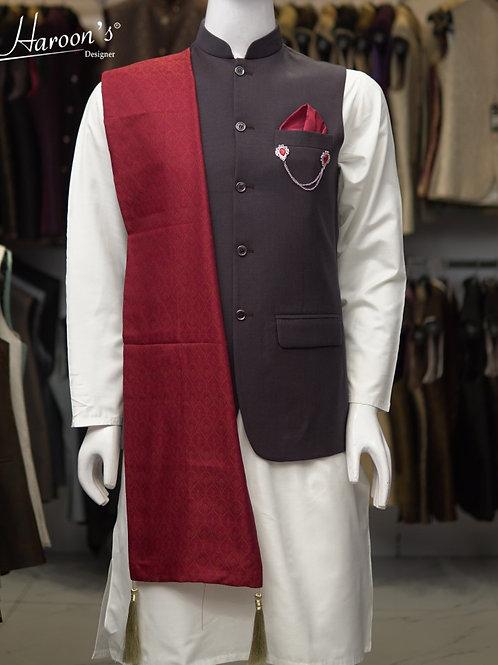Grayish Black Waist Coat