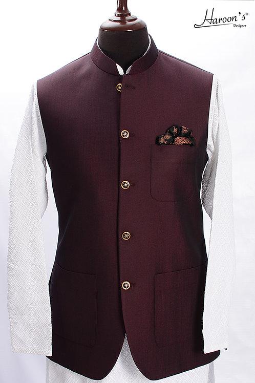 Maroon Waist Coat