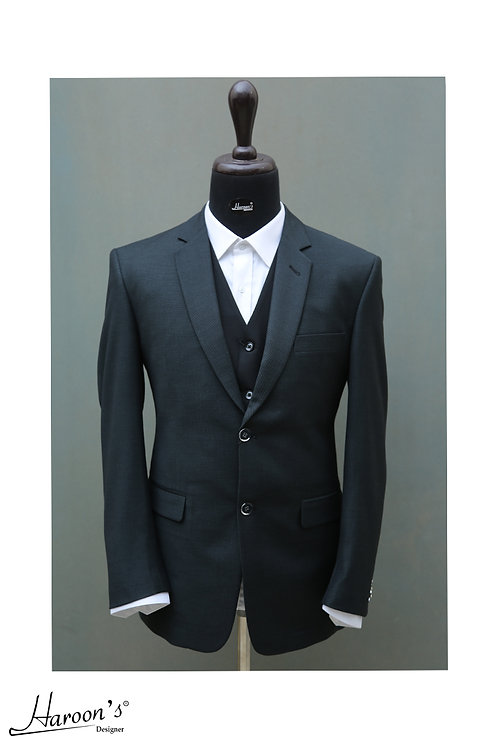 Charcoal Blue 3Pc Suit