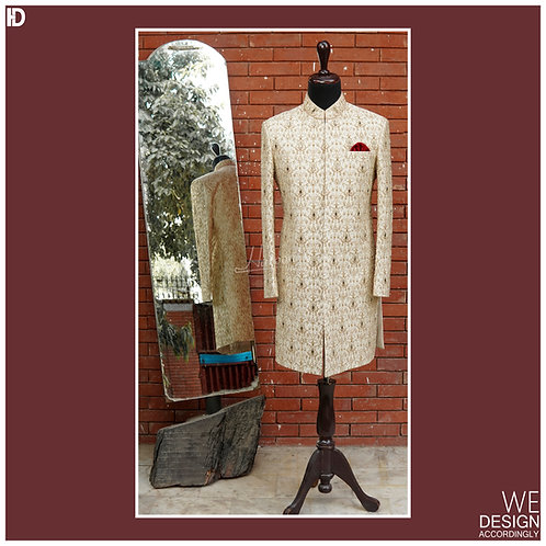 Sherwani Fully Embroidered