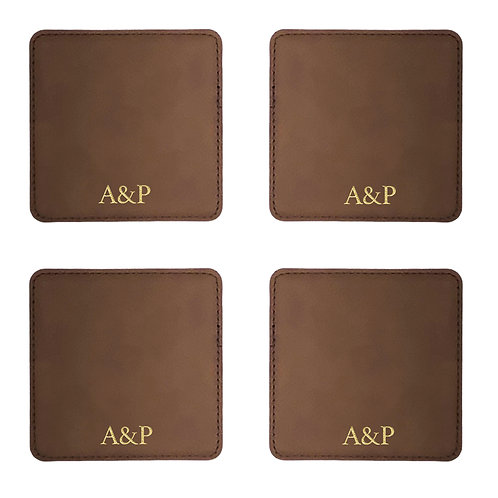 Set of 4 Personalized Coasters