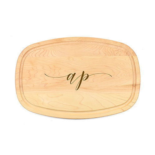Personalized Maple Oval Board-01