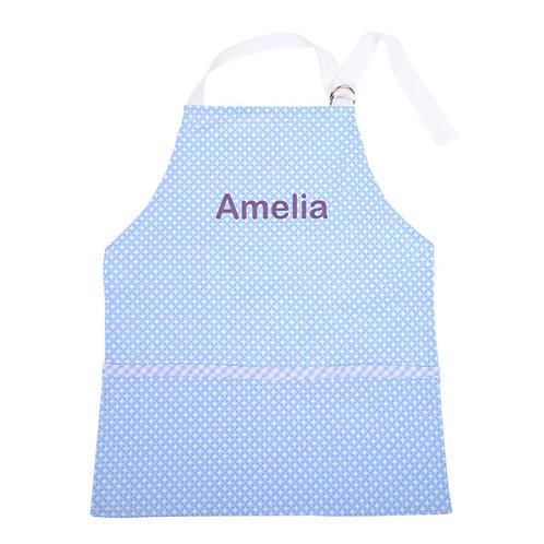Personalized Toddler Smock- Blue Dot