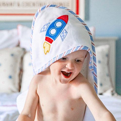 Rocket Hooded Towel & Washcloth Set