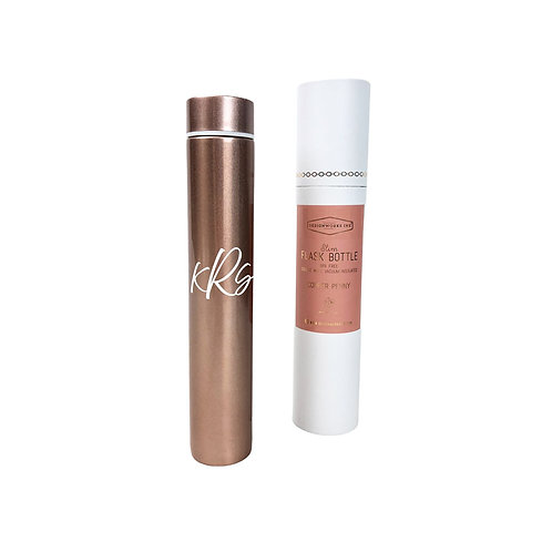 Personalized Slim Flask Bottle-Copper