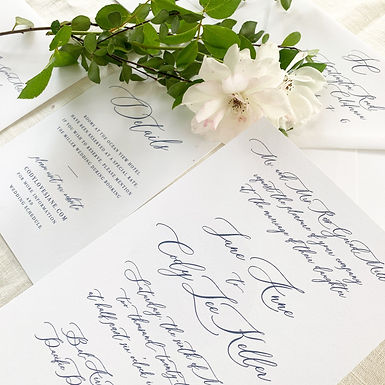 jane suite wedding invitation