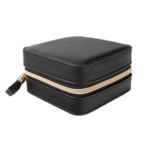 Leah Travel Jewelry Case - Black