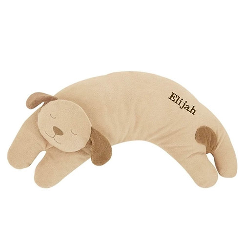 Angel Dear Personalized Puppy curved stuffed animal